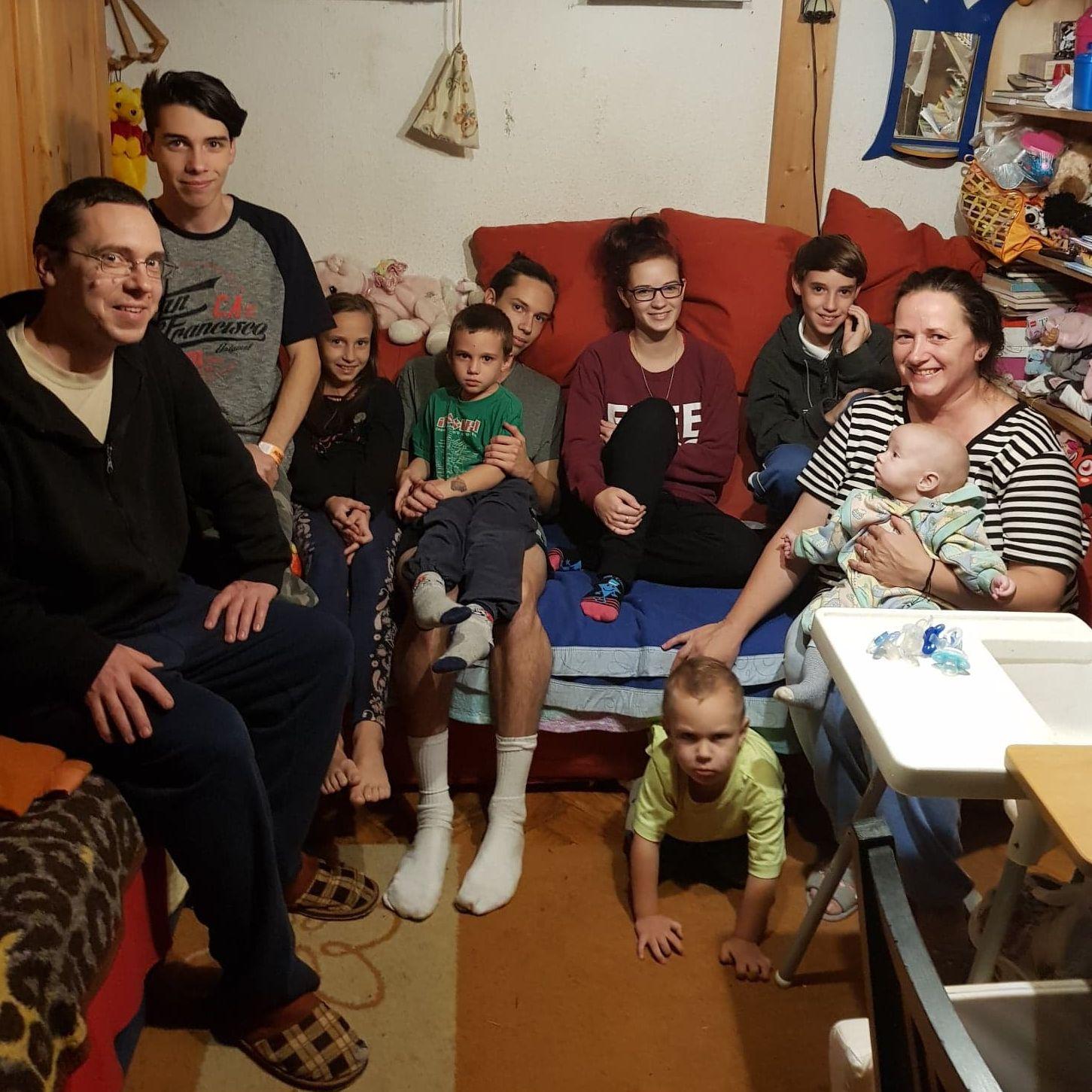Csaba és családja